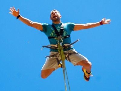 Bungee jumping video, photos Poveda de la Sierra