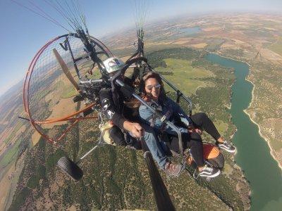 Paramotor flight photos and video Cádiz 30 min