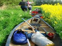 Leaving the canoes for a hike