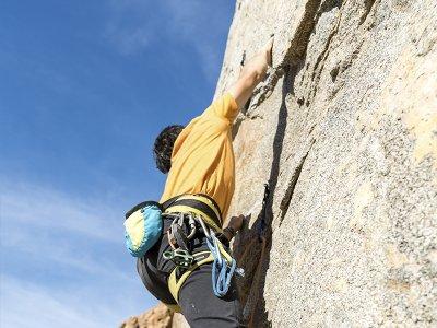Climbing route in Peña de Fresnidiello in Sotres