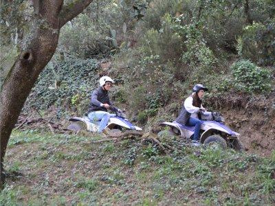 Two-seater quad route Montnegre Natural Park 1h