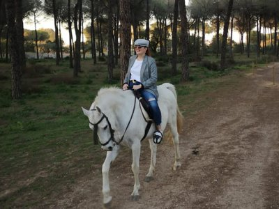 Horse riding through Doñana Park children 2 hrs