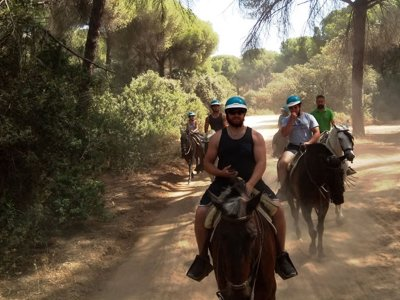 Horseback riding through El Aljarafe kids 4 hours