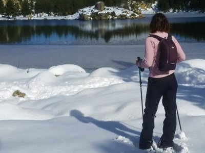 Snowshoeing route to Pico La Najarra 4h