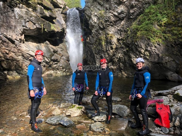 Enjoy the views of waterfalls