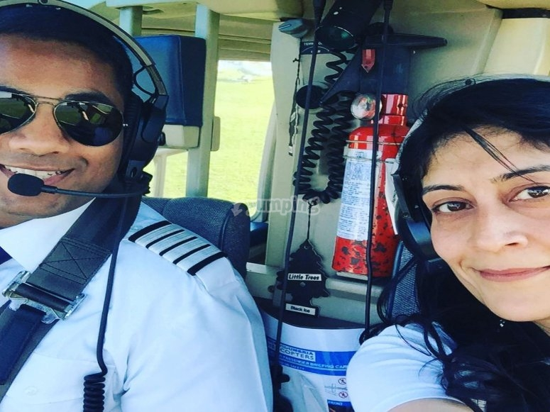 Selfie with our pilot!