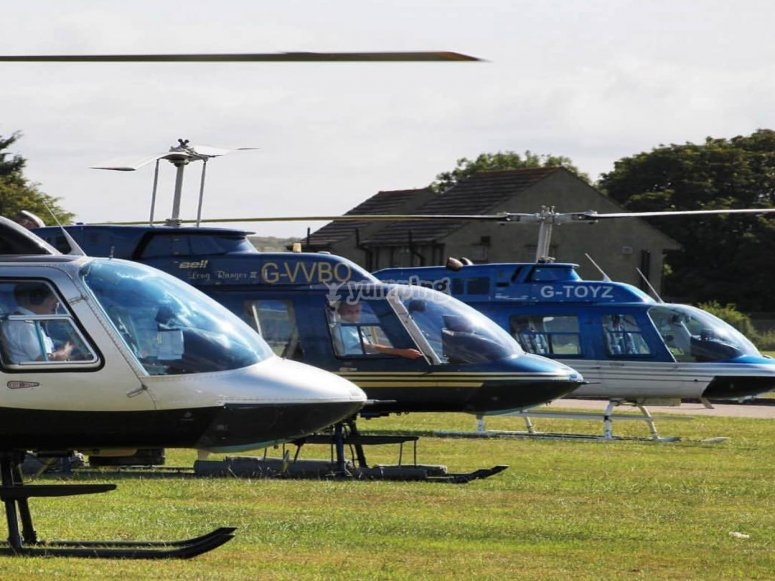 Jet powered helicopters