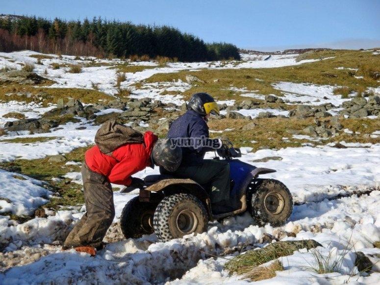 Trek in the snow