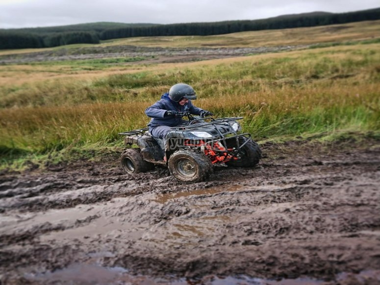 Biking in the mud