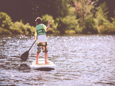 Youth paddle boarding in Dorset half day