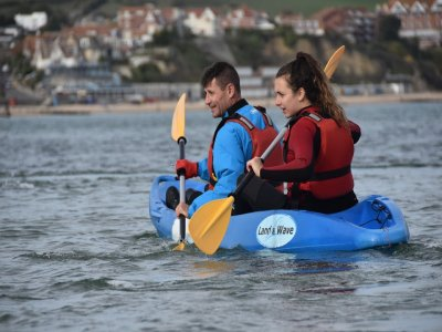 Group sea kayaking in Dorset half day