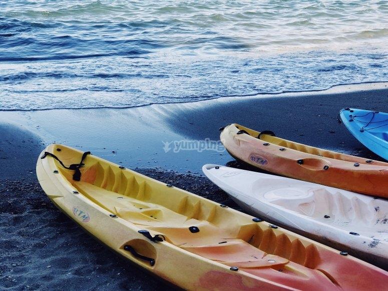 Kayaks provided