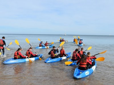 Youth sea kayaking in Dorset half day