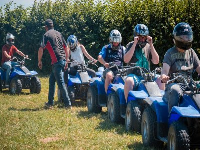 Quad bike route family in the forest 1 hour