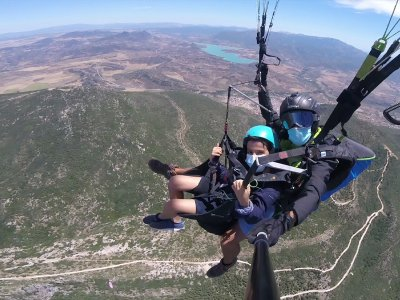 Paragliding flight Algodonales with photos 20 min