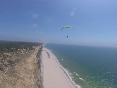 Paragliding flight Matalascañas with photos 20 min