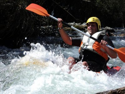 Sit-on-top kayak, initiation to the White Waters