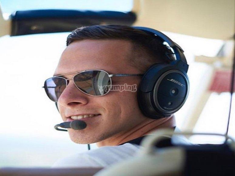 Our friendly pilot