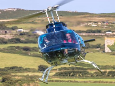Low cost helicopter flight over Leeds for 6 miles