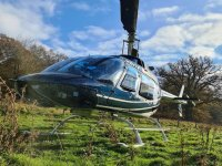 Inexpensive helicopter flight over Leicester