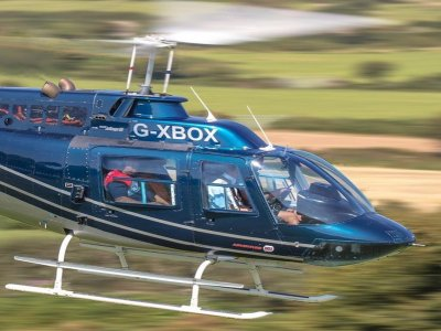 Cheap helicopter flight over Bradford for 6 miles