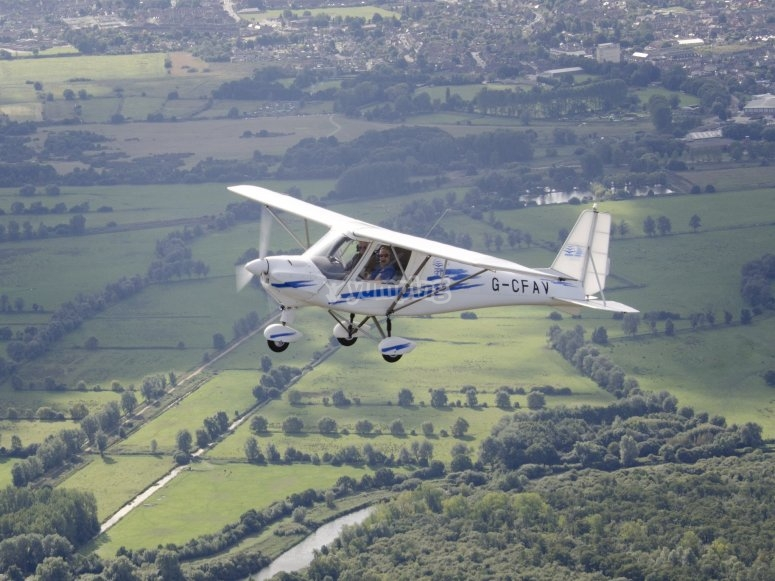 Flying over the Isle of Wight