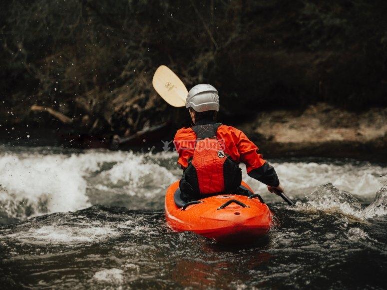 Kayaking in the wild