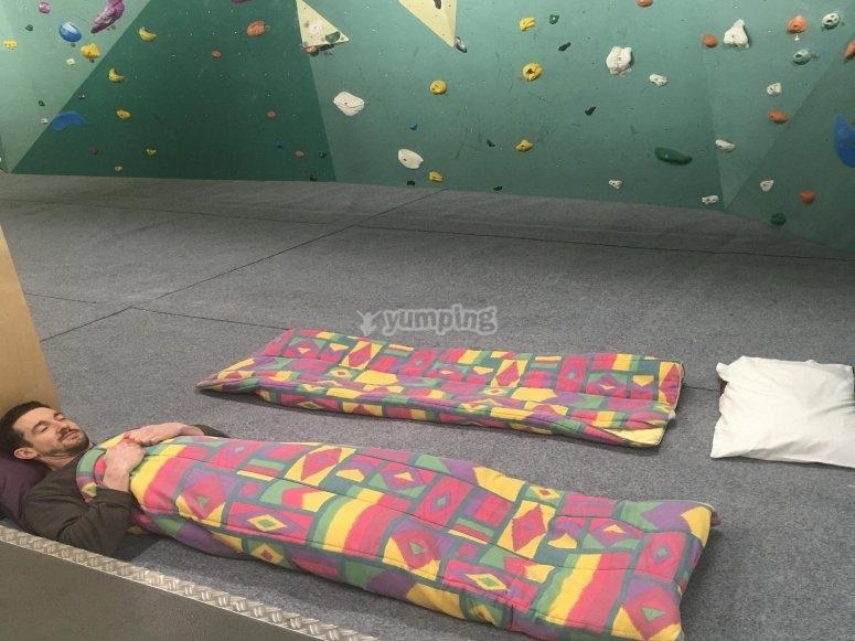 Nap before climbing