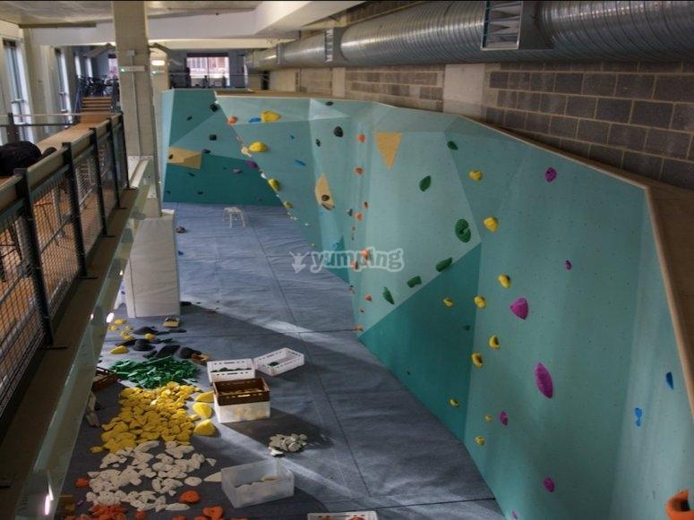 bouldering walls