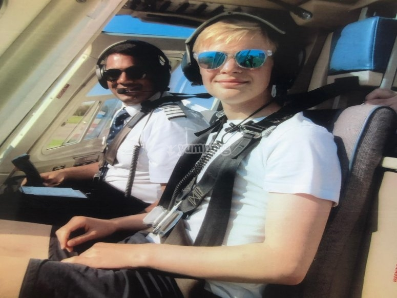 With the pilot