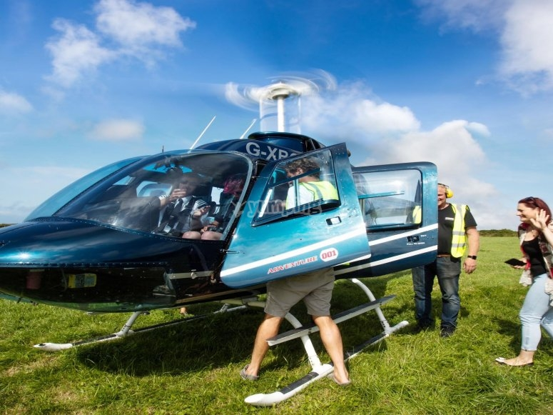Our jet powered helicopter