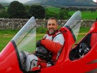 Twin gyroplane ride