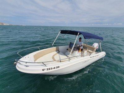 Allegra boat rental with Santa Pola license 8h