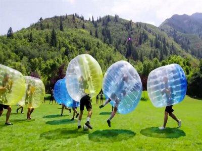 Bubble soccer game in María de Huerva 2 h