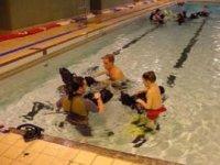 We train in a local swimming pool