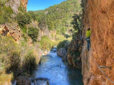 Ravine and via ferrata in Villalba de la Sierra