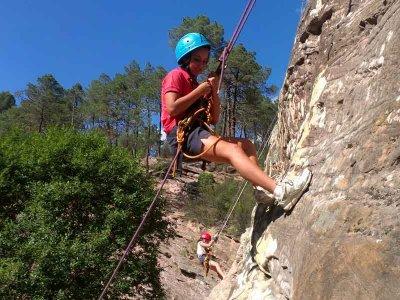 Climbing for children in the Sierra Norte de Madrid
