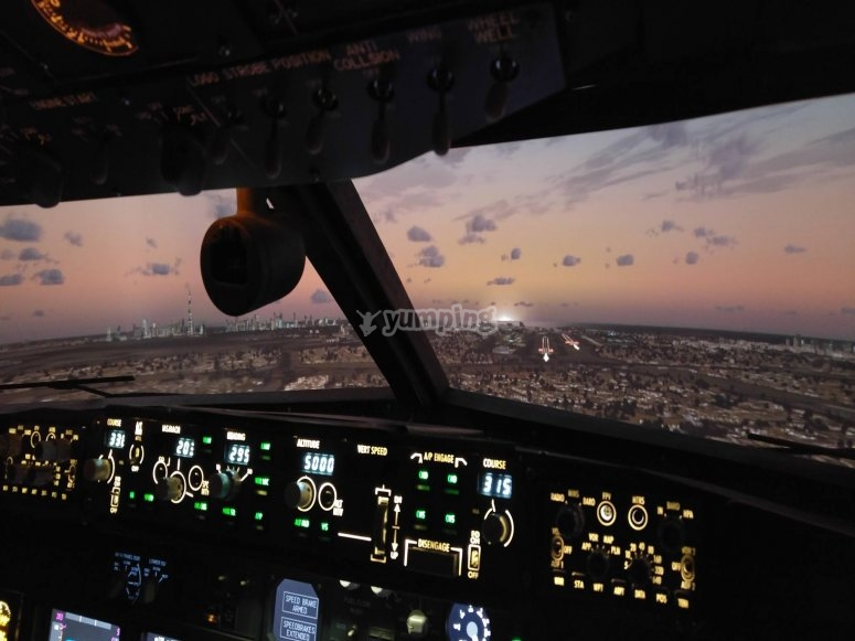 View after take-off