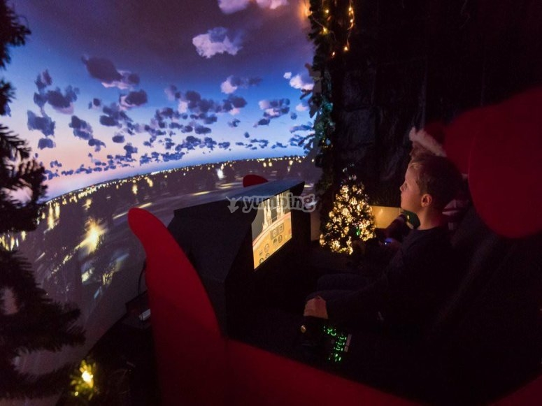 Sunset views in simulator