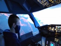 Kid piloting