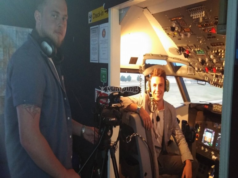 Interview from helicopter