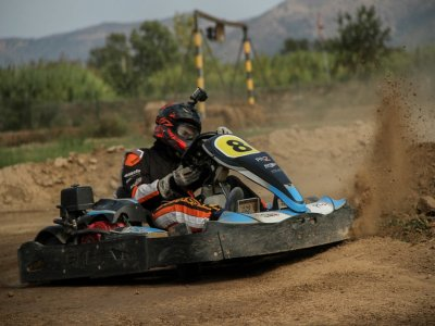 Mini GP in dirt karting in María de Huerva