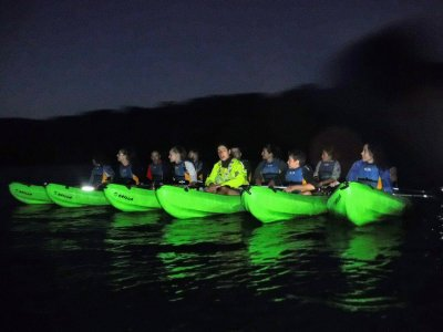 Night kayak route on the Oitavén river in Vigo