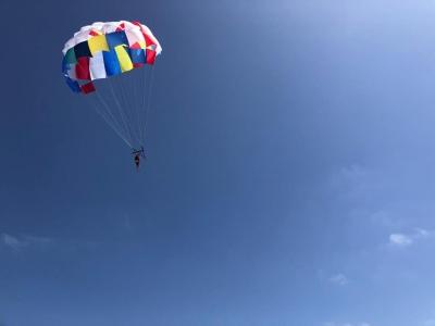 Parasailing flight in Playa de las Higuericas