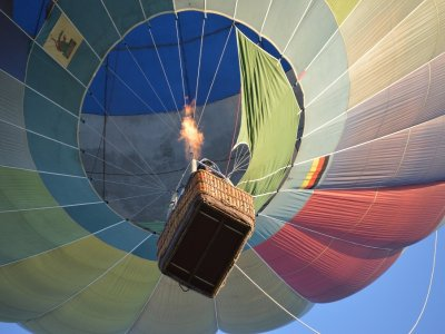 Balloon ride with picnic and photos Aranjuez children