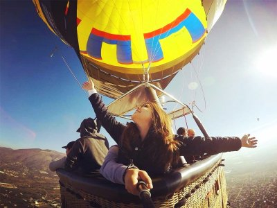 Balloon flight for two with lunch in Toledo