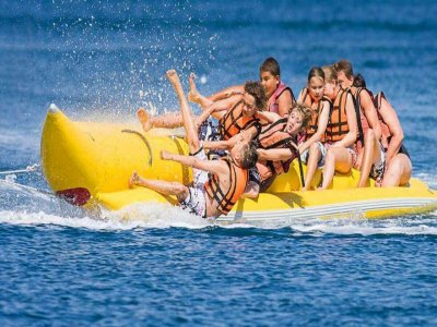 Banana boat in Las Higuericas beach 15 minutes