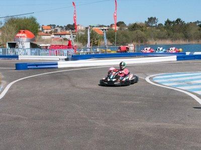 Outdoor karting session in Sanxenxo for Children 8min