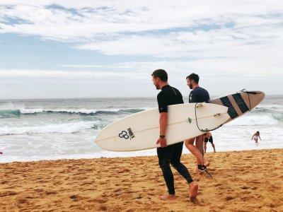 Surf equipment rental in La Mata beach 1 hour