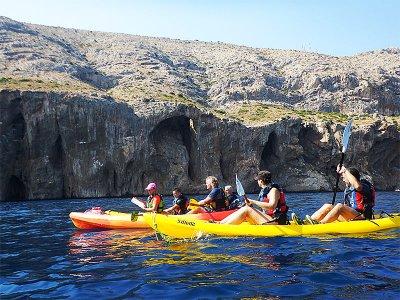 Kayak route through Sancti Petri for 2 hours